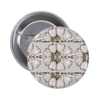 Light Shade Imitation Jewel Pattern HOLIDAY GIFTS 6 Cm Round Badge