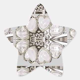 Light Shade Imitation Jewel Pattern HOLIDAY GIFTS Star Sticker