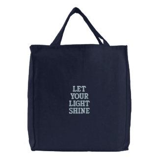 LIGHT SHINE EMBROIDERED TOTE BAG