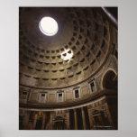 Light shining through oculus in The Pantheon in Poster