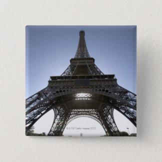 light shining through the Eiffel Tower 15 Cm Square Badge