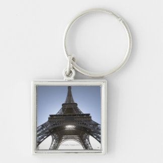 light shining through the Eiffel Tower Key Ring