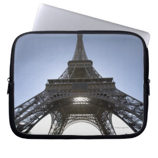 light shining through the Eiffel Tower Laptop Sleeve