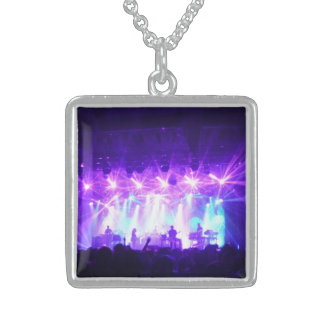 """""""Light Show II"""", Sterling Silver Square Necklace"""