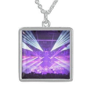 """Light Show"", Sterling Silver Square Necklace"