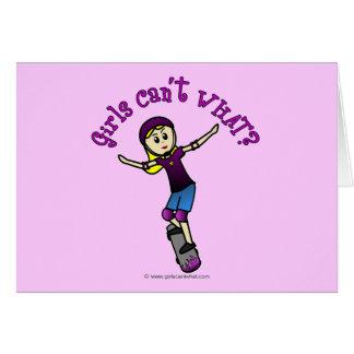 Light Skater with Helmet Greeting Card