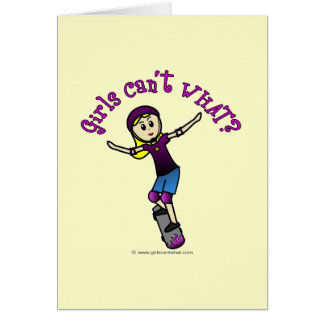 Light Skater with Helmet Greeting Card