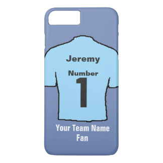 Light Sky Blue Football Shirt Choose name and team iPhone 8 Plus/7 Plus Case