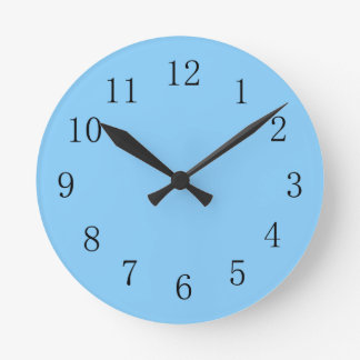 Light Sky Blue Kitchen Wall Clock