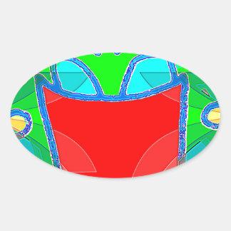 Light Smile Oval Sticker
