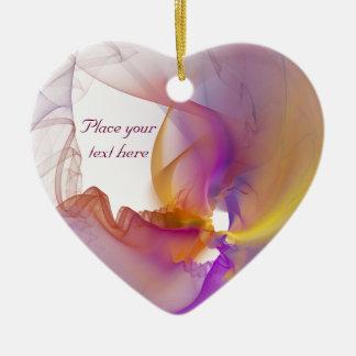 Light Smoke Ceramic Heart Decoration