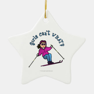 Light Snow Skier Christmas Ornament