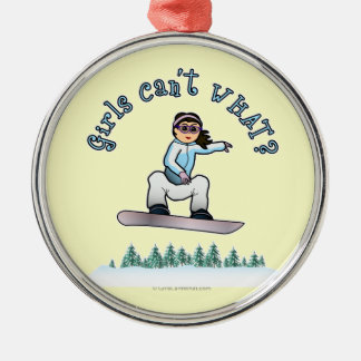 Light Snowboarder Christmas Ornament