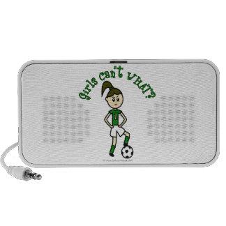 Light Soccer Girl in Green Uniform Mini Speakers
