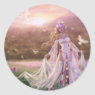 Light Sorceress Round Sticker