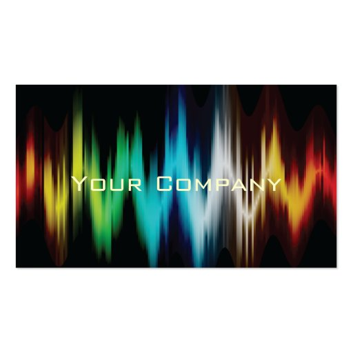 light spectrum abstract business cards.