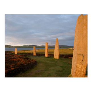 Light Stone Sunset Postcard
