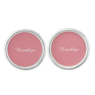Light Strawberry Pink Customizable Cuff Links