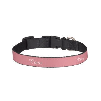 Light Strawberry Pink Customizable Pet Collar