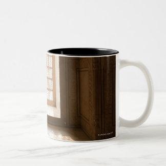 Light streaming thru window, mausoleum, Taj Two-Tone Coffee Mug