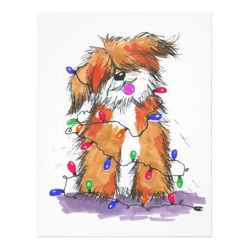 Light String Doggie Flyer Design