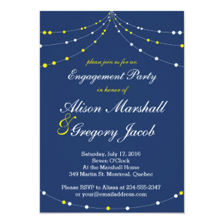 Light Strings Engagement Party Invitation