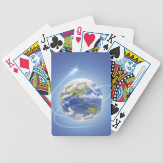 Light Surrounding Earth Bicycle Playing Cards