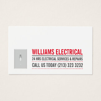 Light Switch Black and White Electrician