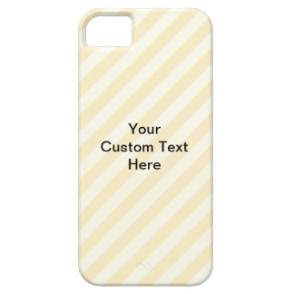 Light Tan Stripes with Black Text. iPhone 5 Cover
