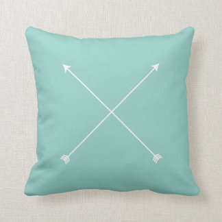 Light Teal Arrow Modern Tribal Minimal Cushion