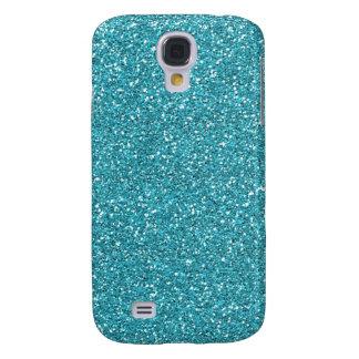 Light Teal Peacock Blue Glitter Effect Galaxy S4 Case