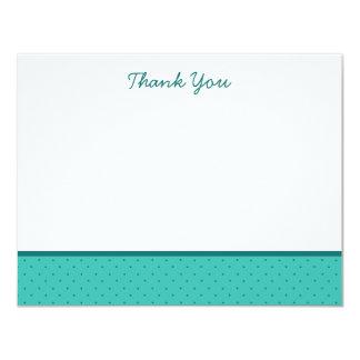 Light Teal Polka Dot Thank You Note Cards 11 Cm X 14 Cm Invitation Card