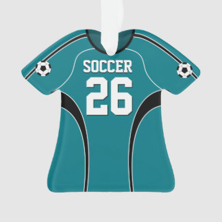 Light Teal Soccer Jersey Ornament