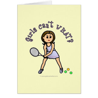 Light Tennis Player Girl Greeting Cards