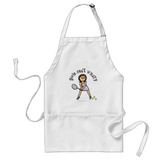 Light Tennis Player Girl Standard Apron