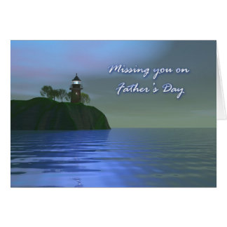 Light the Way Blue Father's Day Greeting Card