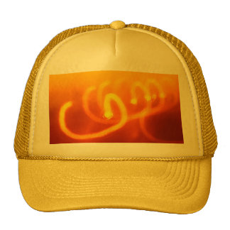 Light trails abstract cap