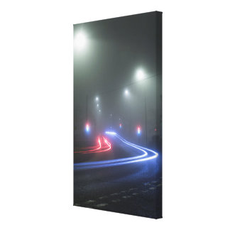 Light Trails Gallery Wrapped Canvas