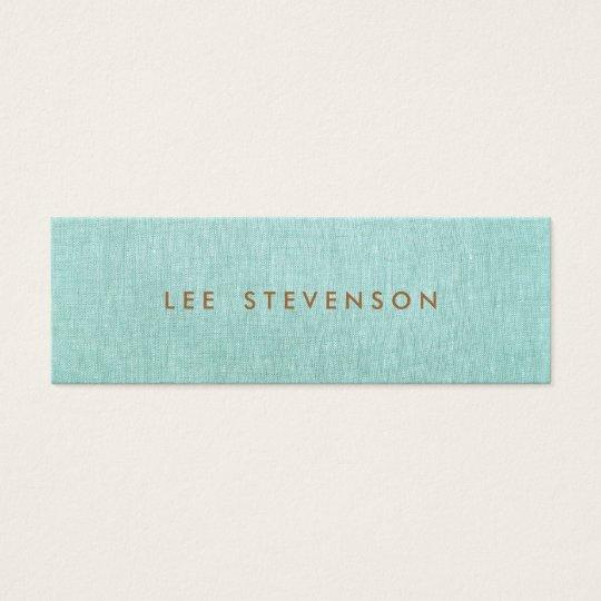 Light Turquoise Blue Linen Look Minimalist Mini Business
