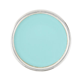Light Turquoise Round Lapel Pin