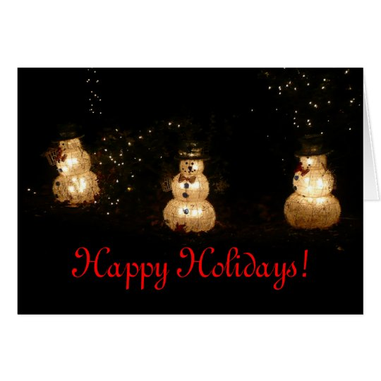 Light-Up Snowmen Holiday Card