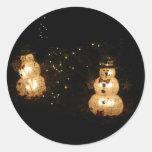 Light-Up Snowmen Sticker