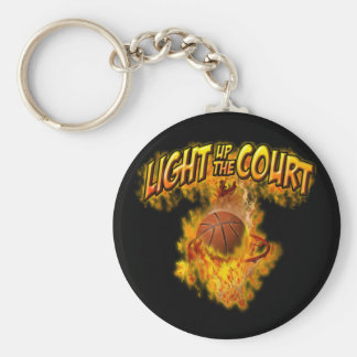 Light up the Court Basic Round Button Key Ring