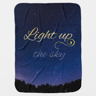 """Light Up The Sky"" Baby Blanket (Shortened)"