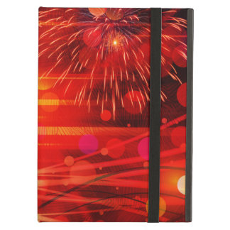 Light Up the Sky Light Rays and Fireworks iPad Case