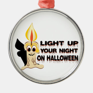 Light Up Your Night On Halloween Silver-Colored Round Decoration