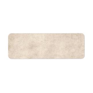 Light Vintage Parchment Antique Paper Background Return Address Label