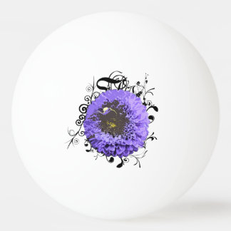 Light violet flowers ping pong ball