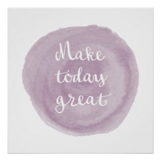 Light Violet Watercolor Inspirational Poster