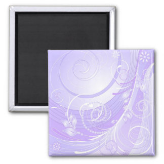 light violet winter magnet